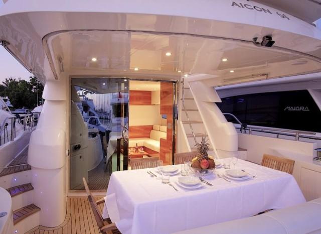 Aicon 64 Fly - Poltu Quatu - Charter Porto Cervo (7)